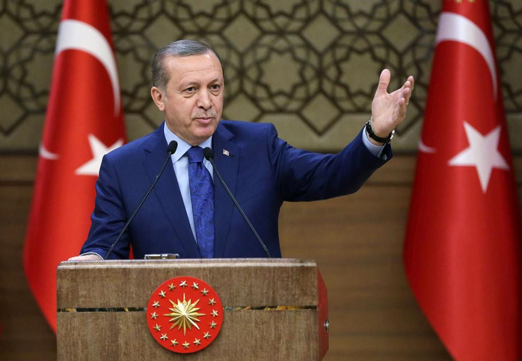 Turkiets auktoritäre president Erdogan. Foto: AP