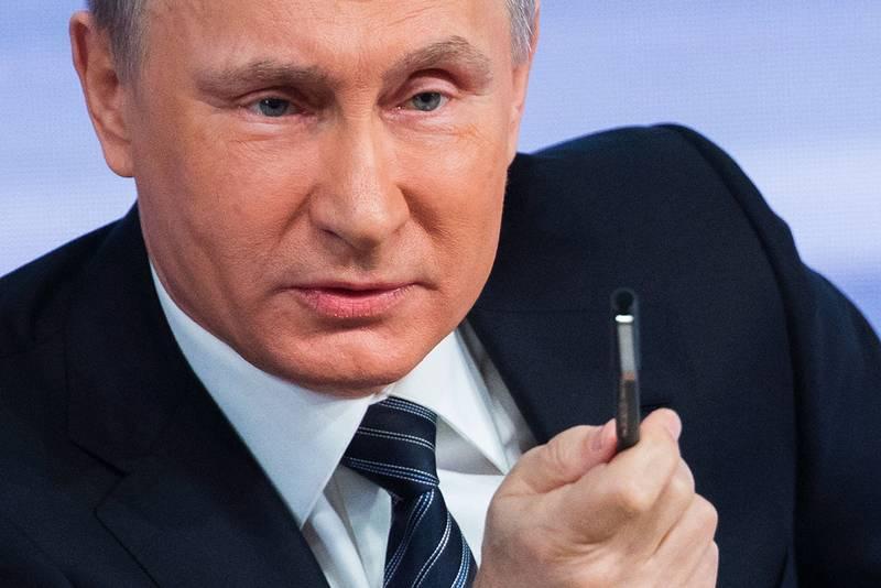 Inte reta upp Putin? Foto: ALEXANDER ZEMLIANICHENKO / AP